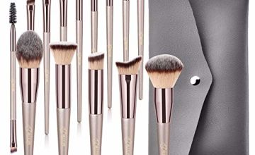 Makeup Brushes BESTOPE 14 Pcs Premium Synthetic Make up Brushes Champagne Gold Brushes for Foundation Kabuki Blush Concealer Eyeshadow