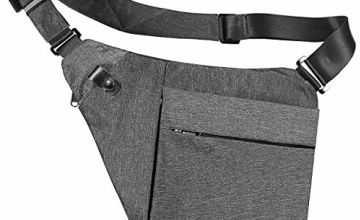 Sling Bag Crossbody Shoulder Chest Bag Anti Theft Travel Chest Bags Pack Daypack Bags For Outdoor Sport Travel Hiking (BK)