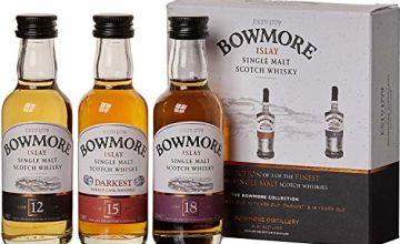 Bowmore Single Malt Whisky Miniature Gift Set (contains 3 x Bowmore 5cl miniatures)