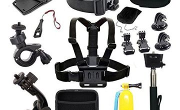EDOSE Head Strap Mount Chest Mount Harness Chesty Accessories Kit for AKASO EK7000 AKASO V50 Pro GoPro Hero 5 GoPro Session Action Camera Sport Camera Waterproof Camera