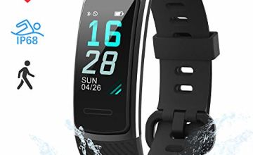 LIFEBEE Fitness Tracker, Fitness Watch Activity Trackers with Heart Rate/Sleep Monitor, IP68 Waterproof Color Screen Smart Bracelet with Calorie Step Counter Smart Watches Men Women for iOS Android