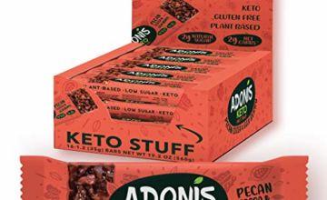 Adonis Low Sugar & Keto Pecan Snack Bars | 100% Natural, Low Carb, Vegan, Gluten Free, Keto, Paleo