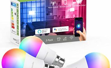 Novostella LED RGBCW Smart Bulb B22, WiFi Colour Changing Bayonet Bulb, Dimmable Tunable White, Work with Alexa Google Home IFTTT,7W 9W
