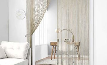Taiyuhomes Spaghetti Beaded String Curtains Dense Door Curta