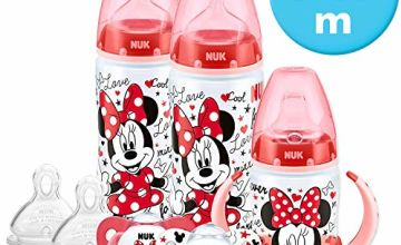 Save on NUK Disney Baby Bottle, Soother & Sippy Cup Set, 6-18 Months, Minnie Mouse Design, with 2 Baby Bottles, 1 Learner Cup, 2 Silicone Soother & 2 Silicone Teats (Designs may vary) and more