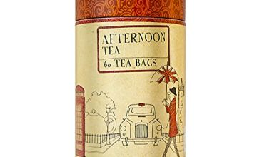 Charbrew's Tea Canister - Limited Edition Collectors Item 60 English Breakfast Tea Bags