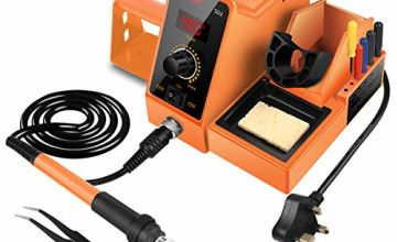 Soldering Iron Station with UK Plug,60W Rework Station/Anti-Static Soldering Station Soldering Iron Set 90-480℃ Temperature Adjustable Repair Tool Kit with Soldering Tips