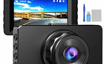 """Dual Dash Cam for Cars Front and Rear Camera Full HD 1080P DVR Dashboard Video Recorder with Night Vision, 170¡ãWide Angle WDR,4""""LCD Display,Loop Recording,G-Sensor,Parking Guard"""