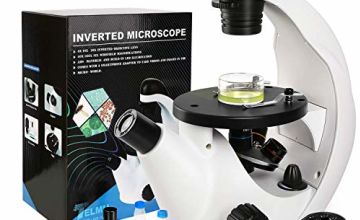 Telmu XD-1606 Microscope New in-focus Designed Inverted Microscope Specifically Magnification 40x ~ 320x for School, Laboratory