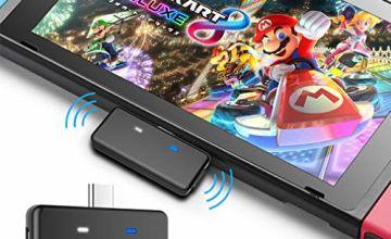 Nintendo Switch Bluetooth Adapter Accessories, Wireless Audio Bluetooth 5.0 Transmitter USB-C Dongle for Nintendo Switch, Switch Lite, PS4,XBOX