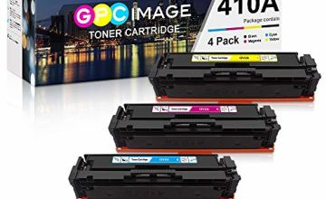 GPC Image 410A Toner Cartridge Compatible for HP 410A CF410A 410X CF410X for HP Color LaserJet Pro M477fdw M477fnw M477fdn M452nw M377dw M452dn M452dw Printer (Black Cyan Magenta Yellow,4-Pack)