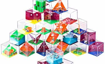 Ucradle Mini Puzzle Box, 24pcs Maze Puzzle Brain Teaser Balance Set Assorted levels of Games Perfect Party Bags Calendar Fillers Birthday Christmas New Year Gift, Children Kids and Teenagers
