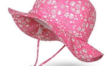 Ami&Li tots Unisex Child Adjustable Wide Brim Sun Protection
