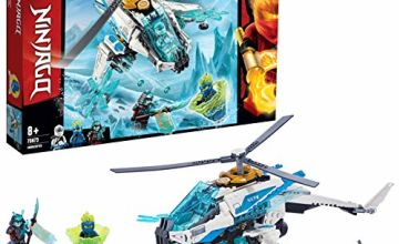 LEGO 70673 NINJAGO ShuriCopter Ninja Helicopter Toy with 3 Minifigures, Masters of Spinjitzu Playset