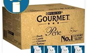 17% off Gourmet Cat Food Perle Chef's Collection, 96 x 85 g, 96 Pouches