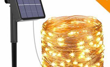 Kolpop Solar Fairy Lights Outdoor, 24m 240 LED Solar String Lights Garden 8 Modes Copper Wire Fairy Lights Decorative String Lights for Patio, Gate, Yard, Wedding, Party Decoration
