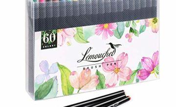 L'ÉMOUCHET 60 Watercolour Blush Pens Set Marker Brush Art Pa