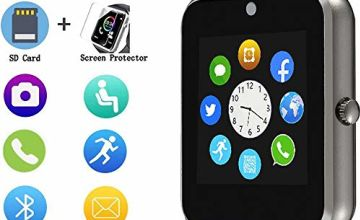 Smart Watch,Touch Screen Sport Wrist Watch Phone for Android IOS Pedometer Smartwatch with SIM Card Slot Camera Compatible Samsung Men Women
