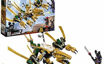 LEGO 70666 NINJAGO Dragon Includes Golden Ninja Lloyd, Overlord and Stone Army Scout Minifigures Toy Set