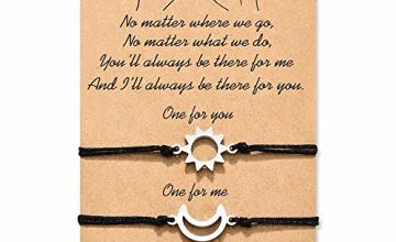 Cheerslife Pinky Promise Friendship Matching String Bracelets 2PCS for Women Girls Mother Daughter Couples