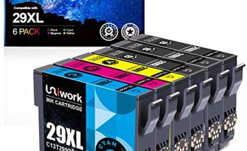6 Pack Uniwork 29XL Compatible Ink Cartridges Replacement for Epson 29 29XL for Epson Expression Home XP-342 XP-352 XP-235 XP-355 XP-245 XP-442 XP-335 XP-255 XP-257 XP-332 XP-345 XP-352 XP-432 XP-435