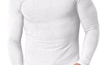 MODCHOK Men's Long Sleeve T Shirts Casual Tee Tops Crew Neck