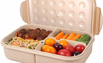 Bento Box for Adults Lunch Containers for Kids 3 Compartment Lunch Box Food Containers Leak Proof