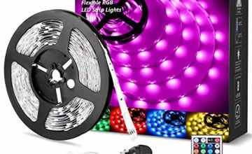 LE 5050 RGB LED Strip Light Kit for Home DIY Party Holiday Decoration