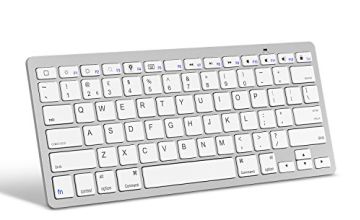 OMOTON Ultra-Slim Bluetooth Keyboard Compatible with iPad 10.2-inch/ 9.7-inch, iPad Air 10.5, iPad Pro 11/ 12.9, iPad Mini 5/ 4, iPhone and Other Bluetooth Enabled Devices, White