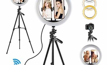 """Selfie Ring Light - 12"""" LED Ring Lights with Stand for Makeup Video Camera YouTube Lighting"""