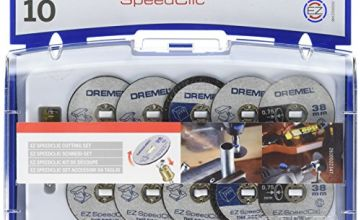 Dremel 690 EZ SpeedClic Cutting Wheels Accessory Kit with 10 Rotary Tool Saw and Cutting Discs