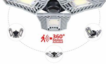 LED Garage Lights,Adjustable Trilights Garage Ceiling Light, High Bay Deformable LED Corn Light Bulbs…