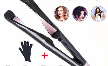Hair Straightener & Curler 2 in 1 Professional Hair Straightener Curling Iron Tourmaline Ceramic Twisted Flat Iron for All Hair Types with LCD Digital Display & Auto Shut-Off (1)