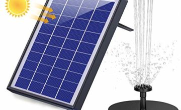 AISITIN 6.5W Solar Fountain Pump, Solar Water Pump Floating Fountain Built-in 1500 mAh Battery, with 6 Nozzles, with Tilting Bracket, for Bird Bath, Fish Tank, Pond or Garden Decoration