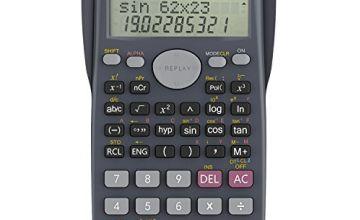 Helect H1002 Calculator, School Calculator, Two Line Scientific Calculator