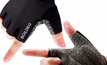 boildeg Cycling Gloves Bike Gloves Mountain Road Bike Gloves Anti-slip Shock-absorbing Pad Breathable Half Finger Bicycle Biking Gloves for Men & Women
