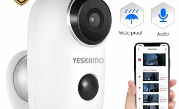 YESKAMO Wireless CCTV Camera Battery Powered 1080P Rechargeable Power Security Camera Outdoor For Home Wifi IP Surveillance System,2 Way Audio,Wide Angle, HD Night Vision,Support SD Card Slot & Cloud