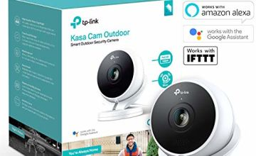 Kasa Smart Security Camera by TP-Link, Outdoor CCTV, Weatherproof, No Hub Required, Works with Alexa(Echo Spot/Show), Google Home Hub & IFTTT, 1080p, Built-in Siren with Night Vision, 2-way Audio