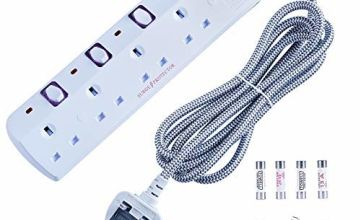 anhoyo Nylon Braided White extension lead