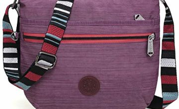 BEKILOLE Slim Crossbody Bag For Girl and Women  Multi-Pocket