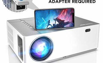"""Projector, BOMAKER 6500 Lux Native 1080P Projector, ±50° Horizontal & Vertical Keystone Video Projector, 50% Zoom Out, 300"""" Display Compatible with TV Stick, Android, iOS, HDMI"""