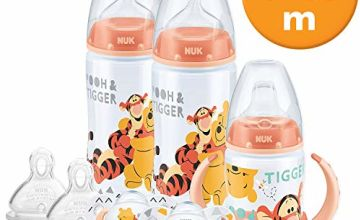 Save on NUK Disney Baby Bottle Soother and Sippy Cup Set 0-18 Months, Winnie the Pooh Design with 2 Baby Bottles, 1 Sippy Cup, 2 Soother Dummies and 2 Silicone Bottle Teats and more