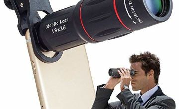 Apexel Universal 18X Clip-On Telephoto Telescope Camera Mobile Phone Zoom lens for iPhone X/8 7 Plus/6S Samsung Galaxy S8 S7 Huawei and most Android Smartphone