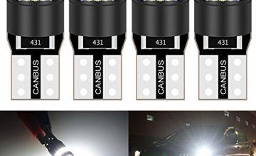 KATUR 36mm Festoon C5W Led Bulbs 6000K White Light Super Bright Chipsets Canbus Error Free for 6418 6461 6486X 6411 6418 6451 Interior Dome License Plate Door Lights (4pcs,White)
