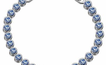 Susan Y bracelets for womens crystal bracelet jewellery for women gifts for women gifts for her gifts for mum anniversary wedding birthday gifts (Light Sapphire)