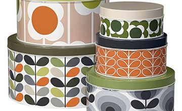 Orla Kiely OK298 Cake Tins-Assorted Prints-Set of 5 Storage