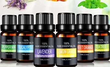 Essential Oils Set, joylink 6 x 10ml Aromatherapy Essential Oils Gift Set 100% Pure Diffuser Oils Therapeutic Grade Oils Kit for Women/Men