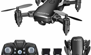 Akamino Mini Drone 2.4GHz Foldable Pocket RC Quadcopter with Headless Mode, 3D Flips , One Key Return Helicopter for Beginners, Kids