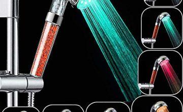 Rovtop High Pressure Water Saving 7 Colors Changing Light Handheld High Pressure Spa Shower Head