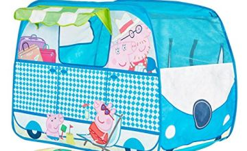 Peppa Pig 167PED Campervan Pop Up Play Tent Playhouse, Yellow